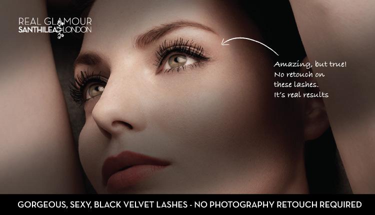 Gorgeous, sexy, black velvet lashes